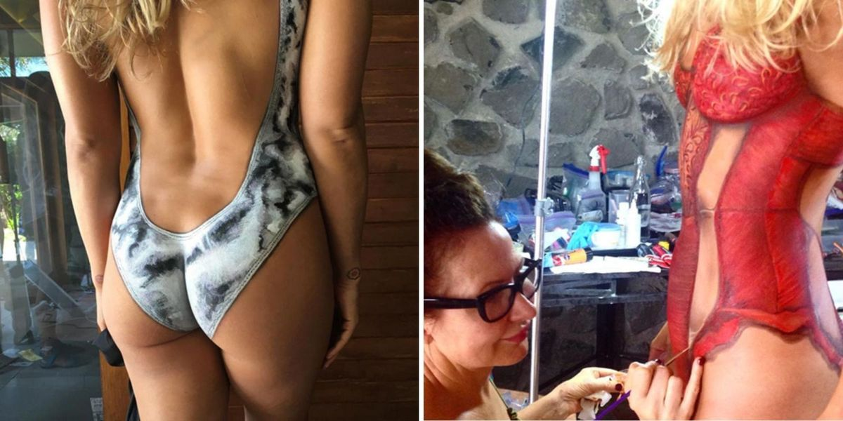 What It S Really Like To Be Naked And Body Painted For Sports Illustrated S Swimsuit Issue