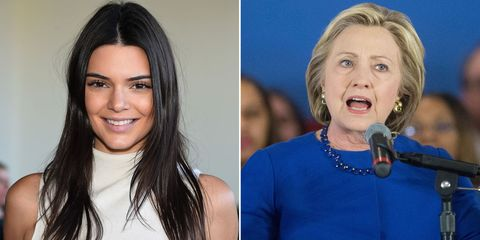 Kendall Jenner Endorses Hillary Clinton