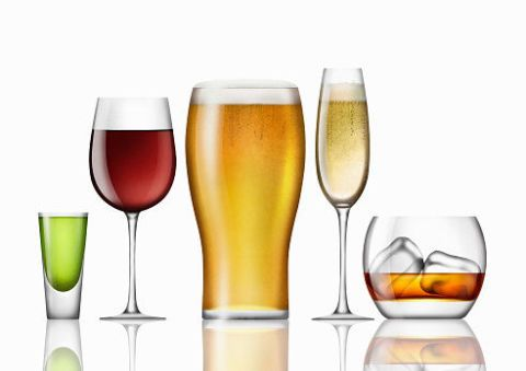 All types of alcohol