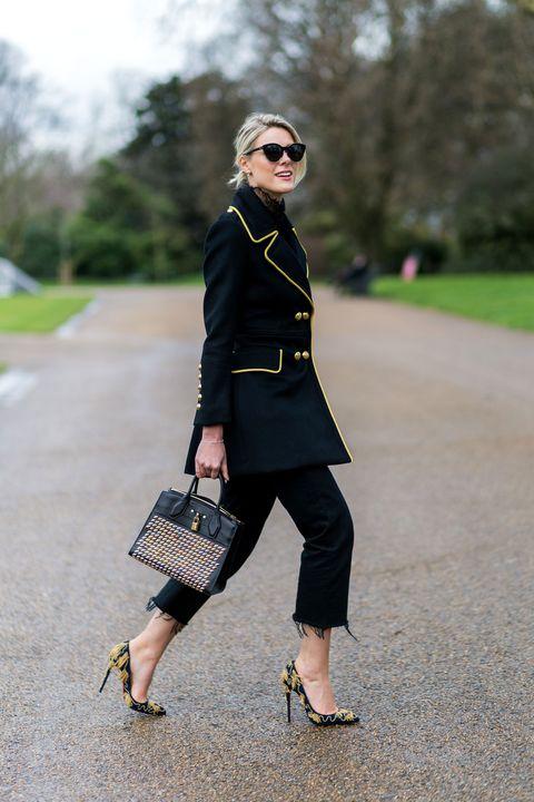 Clothing, Footwear, Eyewear, Brown, Sunglasses, Textile, Bag, Joint, Outerwear, Human leg,