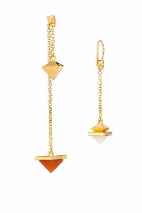 Earrings, Yellow, Amber, Metal, Fashion accessory, Brass, Jewellery, Body jewelry, Natural material, Gold,