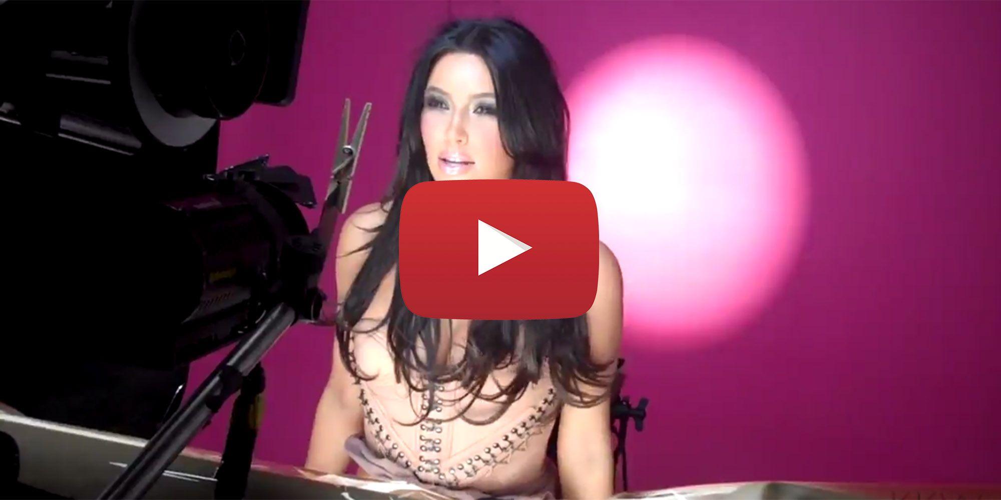Kim Kardashian Music Video Flashback - Kanye Visits Kim on the Set ...