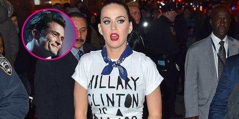 Orlando Bloom and Hillary Clinton