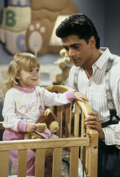 """Age 3: With Uncle Jessie On """"Full House"""" in 1989"""