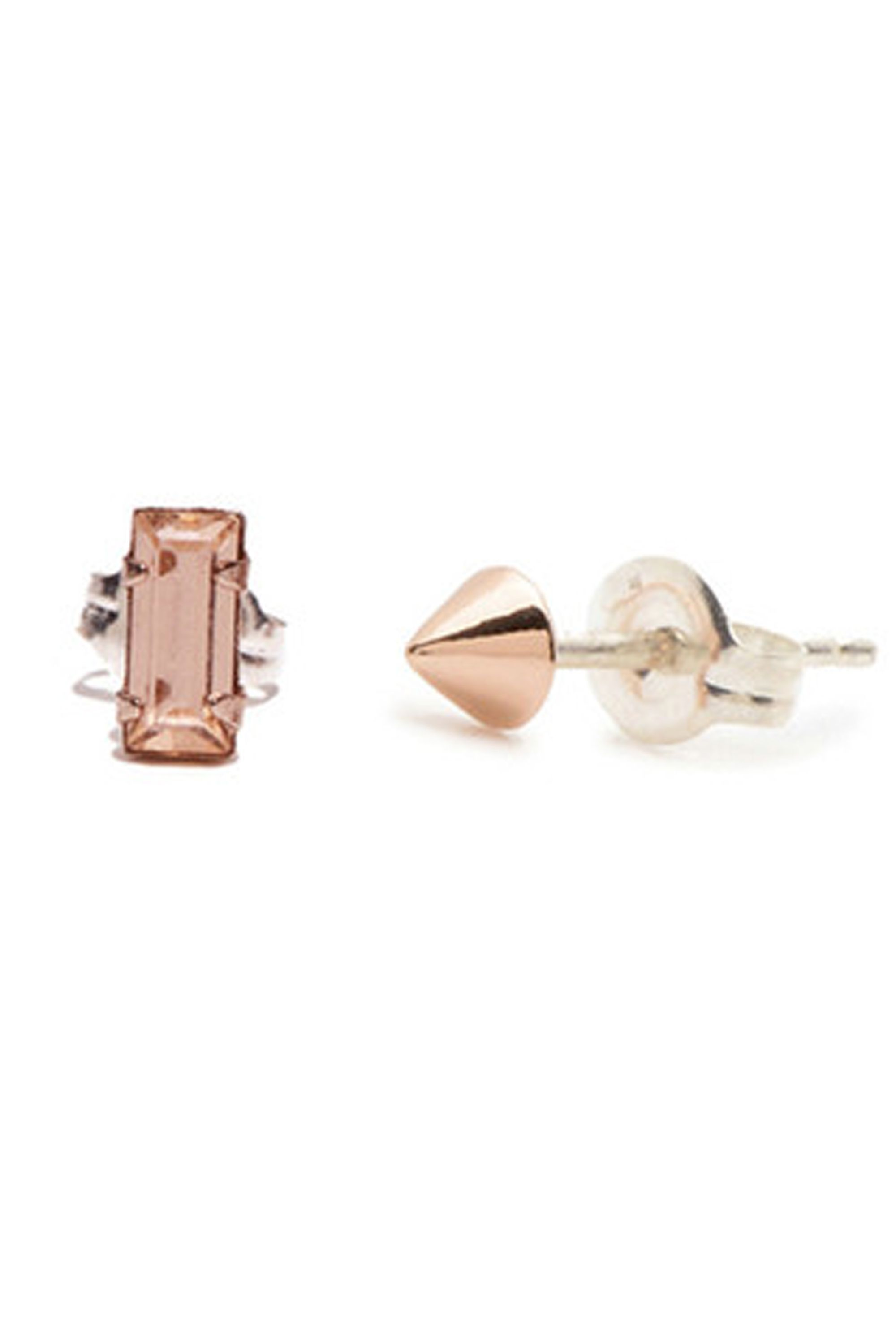 stone of on maria earrings alphabet mismatched our for up trio a pin doubles touch