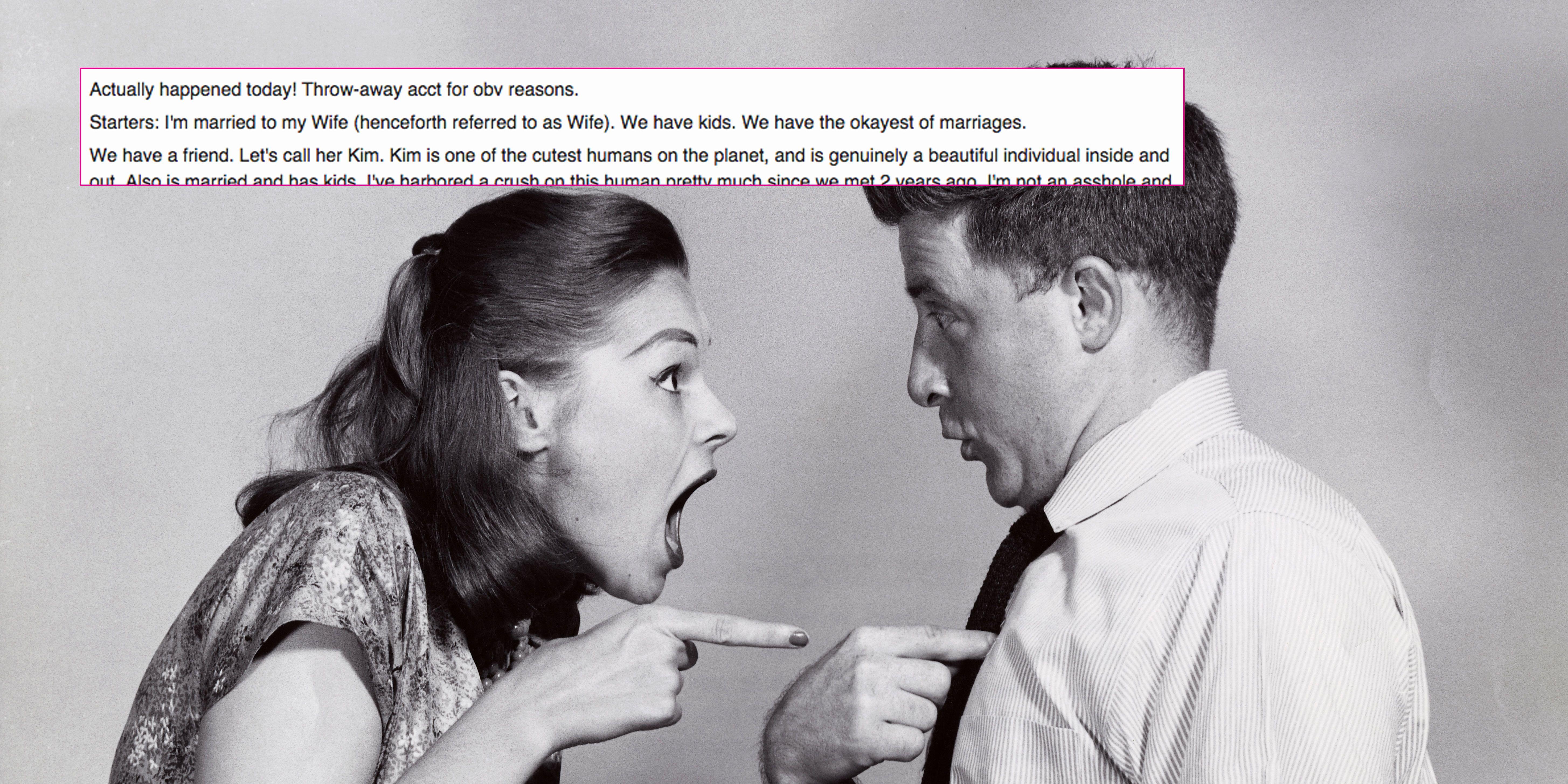 Man Tells Wife He Has Crush On Their Friend