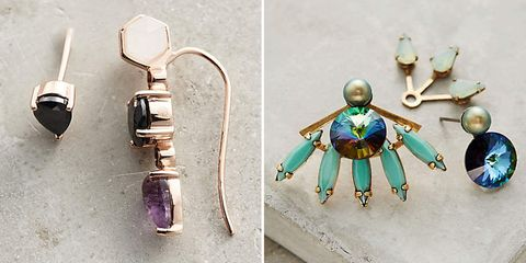Teal, Turquoise, Earrings, Fictional character, Gemstone, Costume design, Silver, Body jewelry, Toy, Natural material,