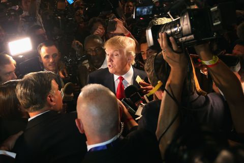 Trump in a crowd