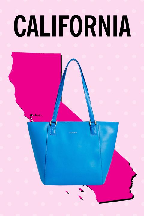 """<p>Ladies in these hardworking states need holdalls that also manage to look luxe. Bingo.</p><p><strong>Also: </strong>Colorado, Florida, Iowa, Michigan, New Jersey, North Carolina, Washington</p><p>$138, <a href=""""http://www.verabradley.com/product/small-ella-tote/exotic-floral-with-black-trim/1004000_204513.uts?Nr=AND%28Content+Type%3Aproduct%29&Ntt=Small+Ella+Tote"""" target=""""_blank"""">verabradley.com</a><a href=""""http://www.verabradley.com/product/small-ella-tote/exotic-floral-with-black-trim/1004000_204513.uts?Nr=AND%28Content+Type%3Aproduct%29&Ntt=Small+Ella+Tote""""></a></p>"""