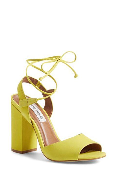 Footwear, High heels, Brown, Yellow, Sandal, Basic pump, Tan, Fashion, Beige, Material property,