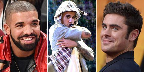 Drake, Justin Bieber, Zac Efron