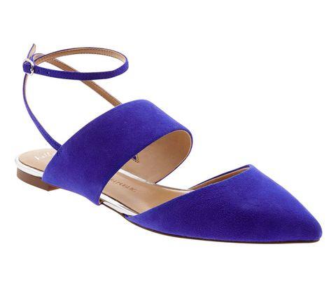 Blue, Electric blue, Costume accessory, Tan, Cobalt blue, Beige, Sandal, Strap, Slingback, Wedge,