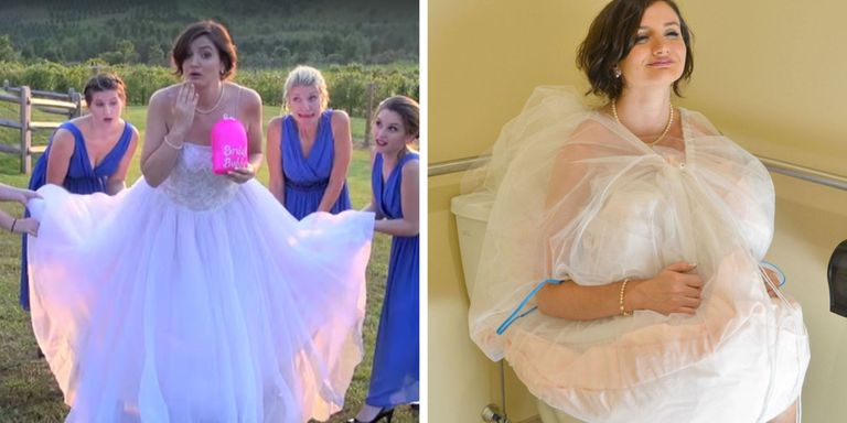 This Invention Helps Brides Go to the Bathroom in Their Wedding Dress
