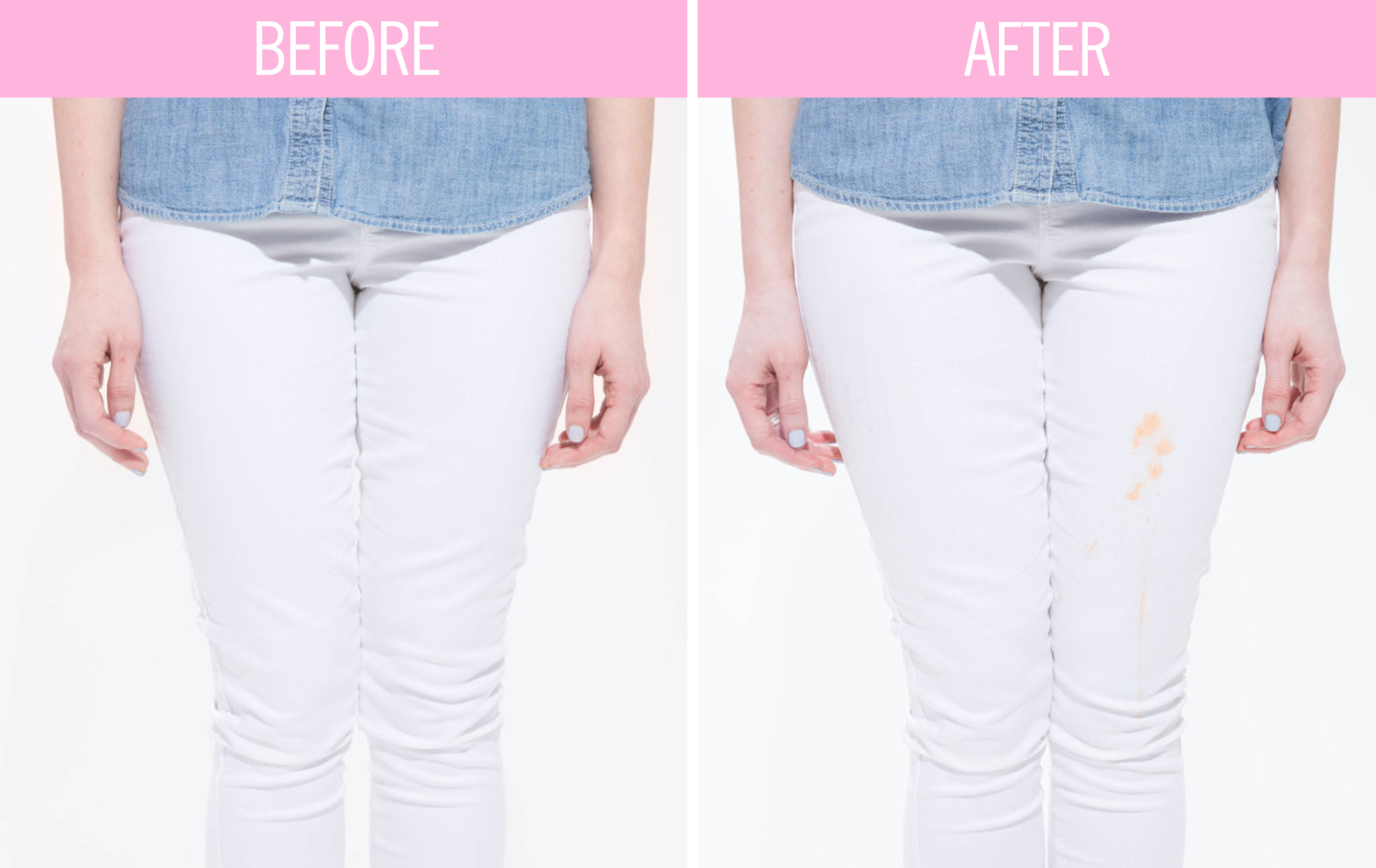 Put To the Ultimate Test: Old Navy 'Stay White' Stain-Resistant Jeans