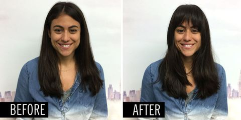 This Is How to Flawlessly Apply Fake Bangs