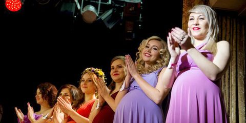 Beauty Pageant for Pregnant Women Was Held in St  Petersburg