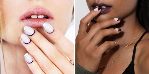 Finger, Lip, Blue, Brown, Skin, Nail, Nail care, Jewellery, Manicure, Nail polish,