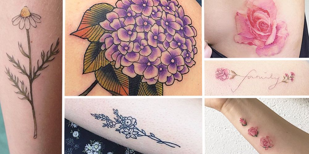 17 adorable floral tattoos you re going to be obsessed with