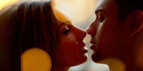 Lip, Cheek, Chin, Forehead, Eyelash, Romance, Interaction, Love, Beauty, Neck,