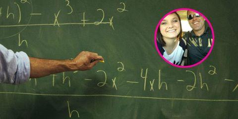 Facial expression, Wrist, Handwriting, Blackboard, Chalk, Writing, Tooth, Education, Class, Laugh,