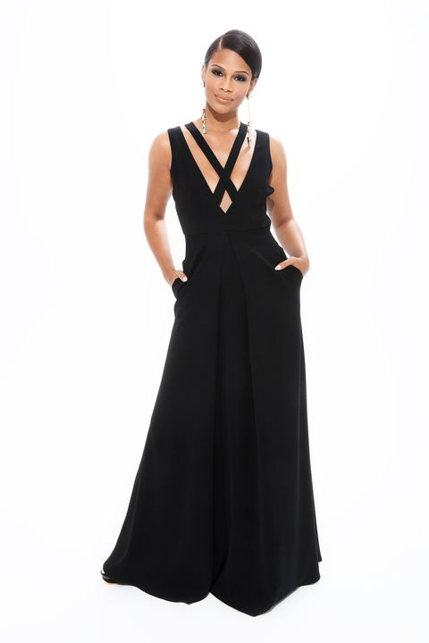 image. Ruben Chamorro. Black Strappy Gown ...