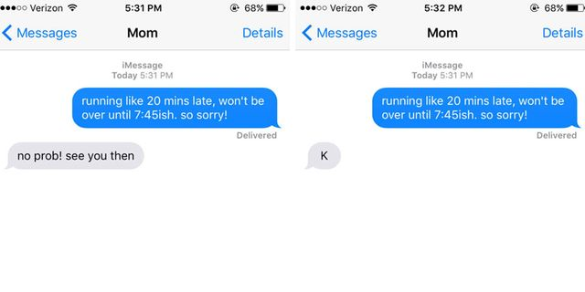 Quiz: Which Text Is the Mom Text?