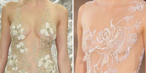 Brown, Skin, Shoulder, Pattern, Peach, Embellishment, Back, Waist, Tan, Beige,