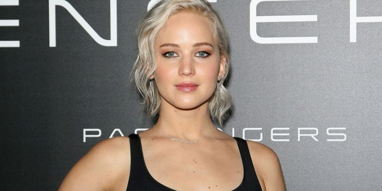 Jennifer Lawrence Free-Boobs for Days in a Skintight Sheer Top