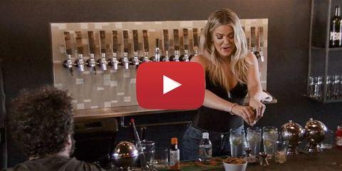 Khloe Kardashian Making Cocktails