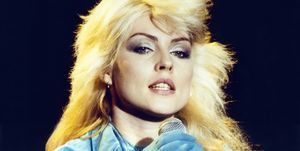 Bringing punky hairstyles into the mainstream, Blondie singer Debbie Harry rocked a shaggy, bleached look.