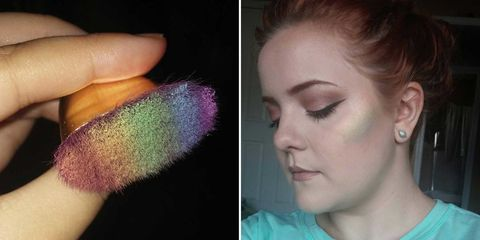 This Genius Woman Made Her Own DIY Rainbow Highlighter