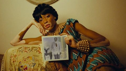 Hand, Wrist, Black hair, Vintage clothing, Stock photography, Portrait, Portrait photography, Day dress, Retro style,