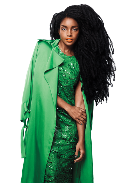 <p><em><strong>Trench, Dress</strong>, Emilio Pucci. <strong>Earrings</strong>, Annelise Michelson.</em><em></em></p>