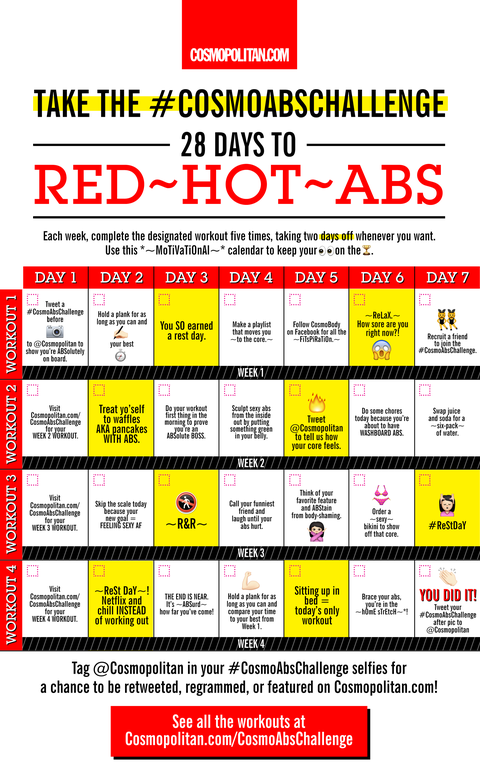 How to Get a Flat Stomach - 4 Week Abs Workout Challenge and