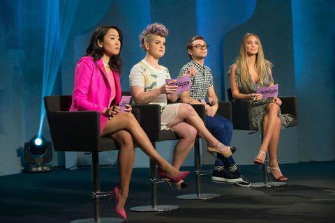 Leg, Shoe, Sitting, Chair, Stage, Interaction, Conversation, heater, Drama, Fashion design,