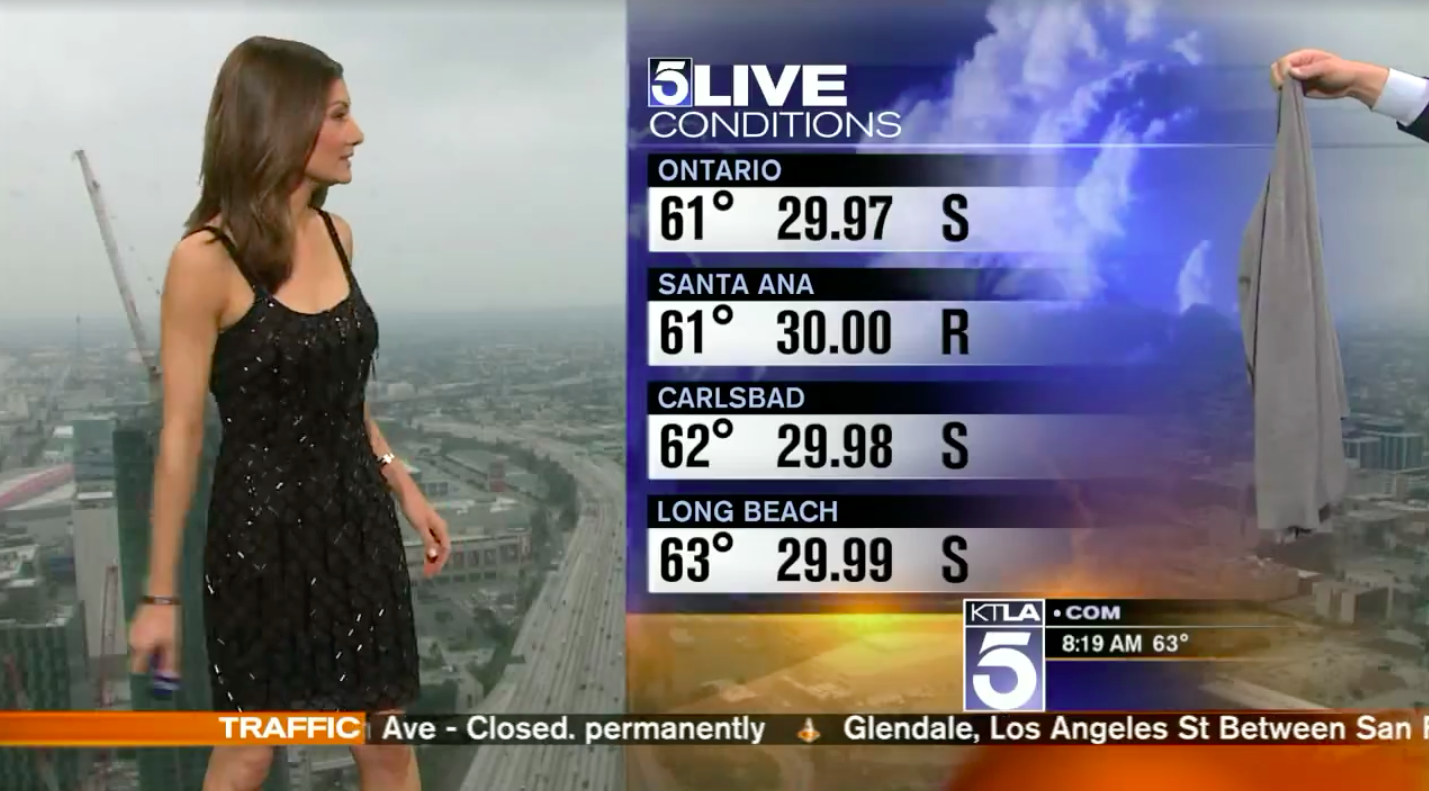 This Meteorologist Was Forced to Put on a Sweater During Her Live Weather Report