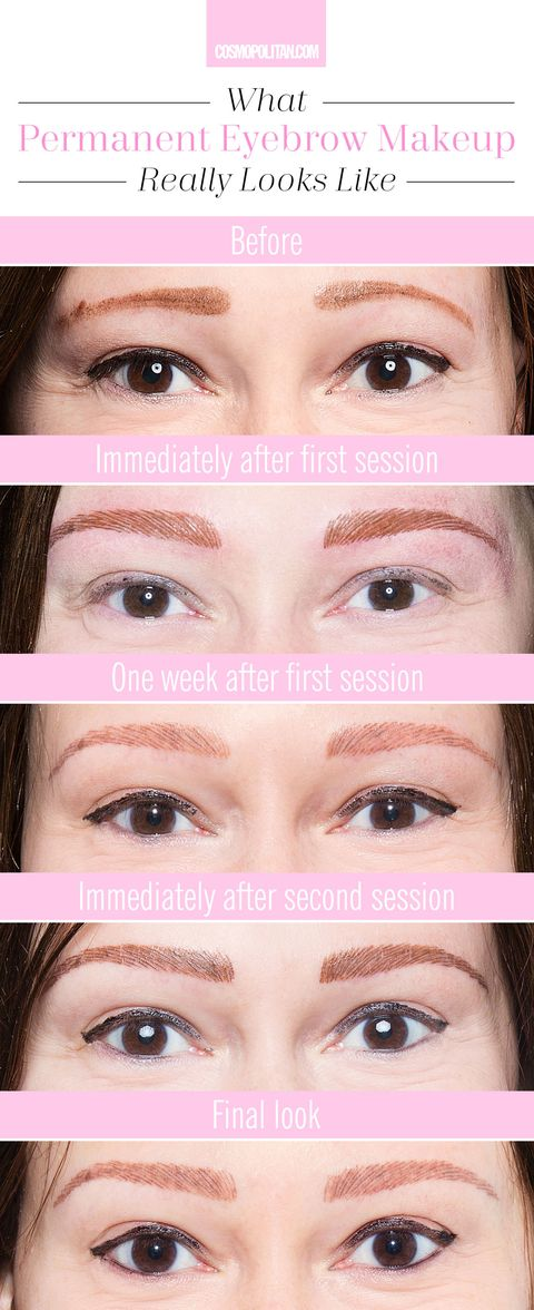 What Its Really Like To Get Permanent Eyebrow Makeup Permanent Makeup