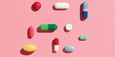 Colorfulness, Pink, Red, Pill, Magenta, Medicine, Pharmaceutical drug, Plastic, Analgesic, Rectangle,