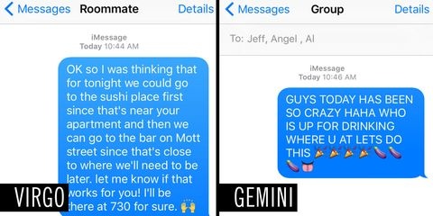 What Your Sign Says About The Way You Text
