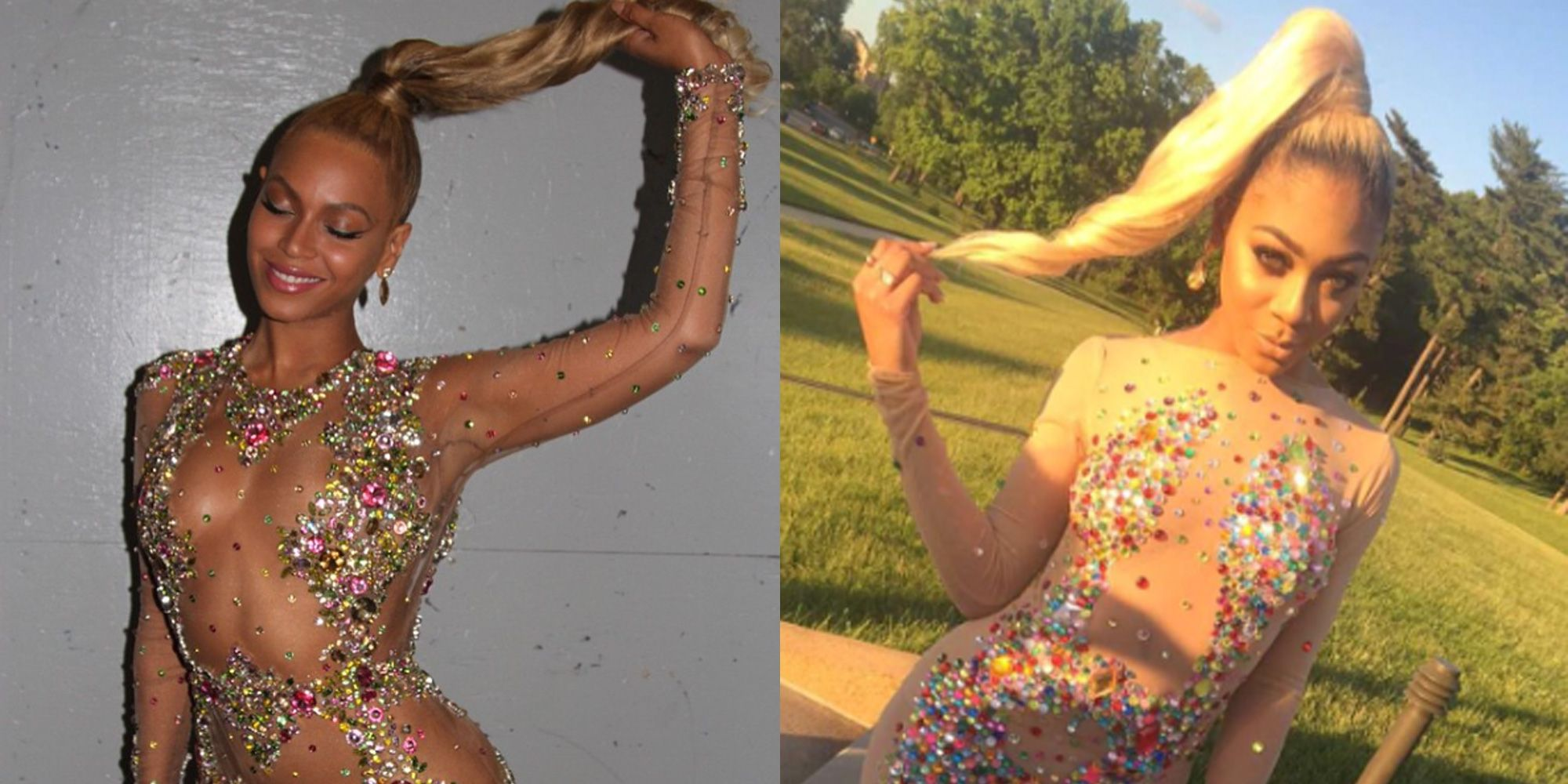 Beyonce style prom dresses