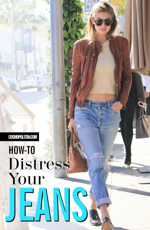 5 Easy Tricks for Distressing TF Out of Your Jeans