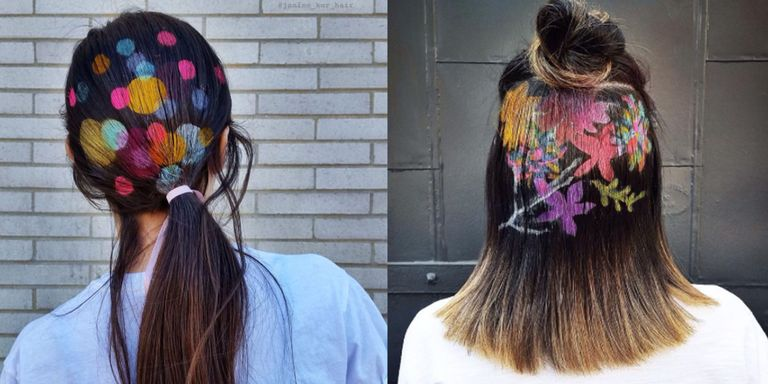 These 25 Photos Will Make You Want to Stencil Artwork Onto Your Hair Right Now