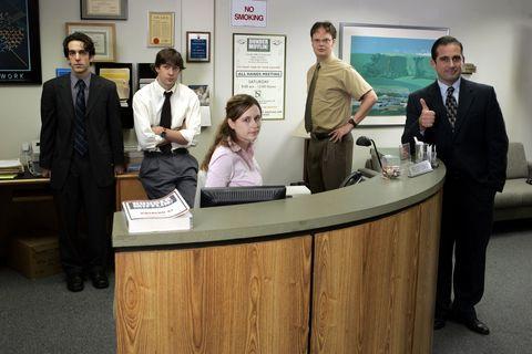 Interior design, Table, Suit, Picture frame, Management, Desk, White-collar worker, Employment, Receptionist, Business,