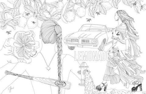this illustrator turned beyonc s lemonade into a coloring book rh cosmopolitan com Niki Minaj Coloring Book Lemonade Beyonce Artwork
