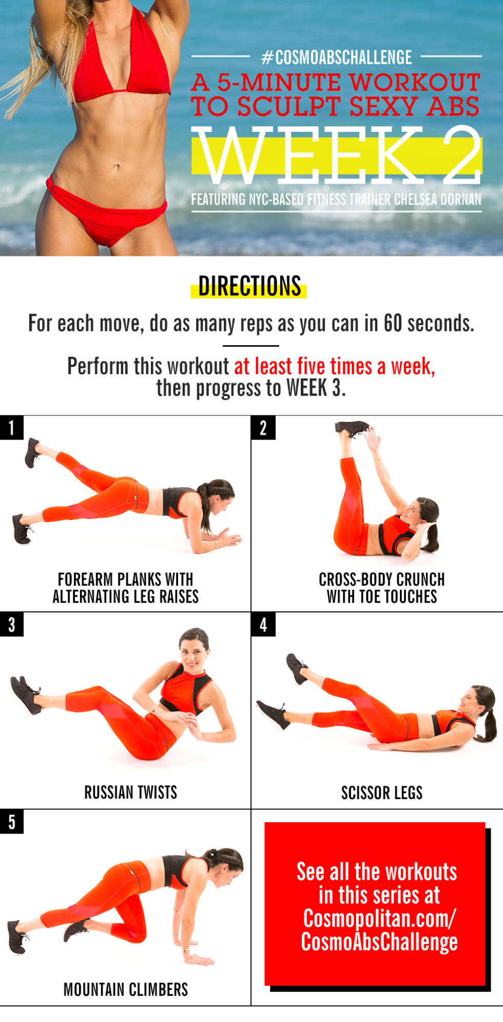 Abs workout at home for female beginners