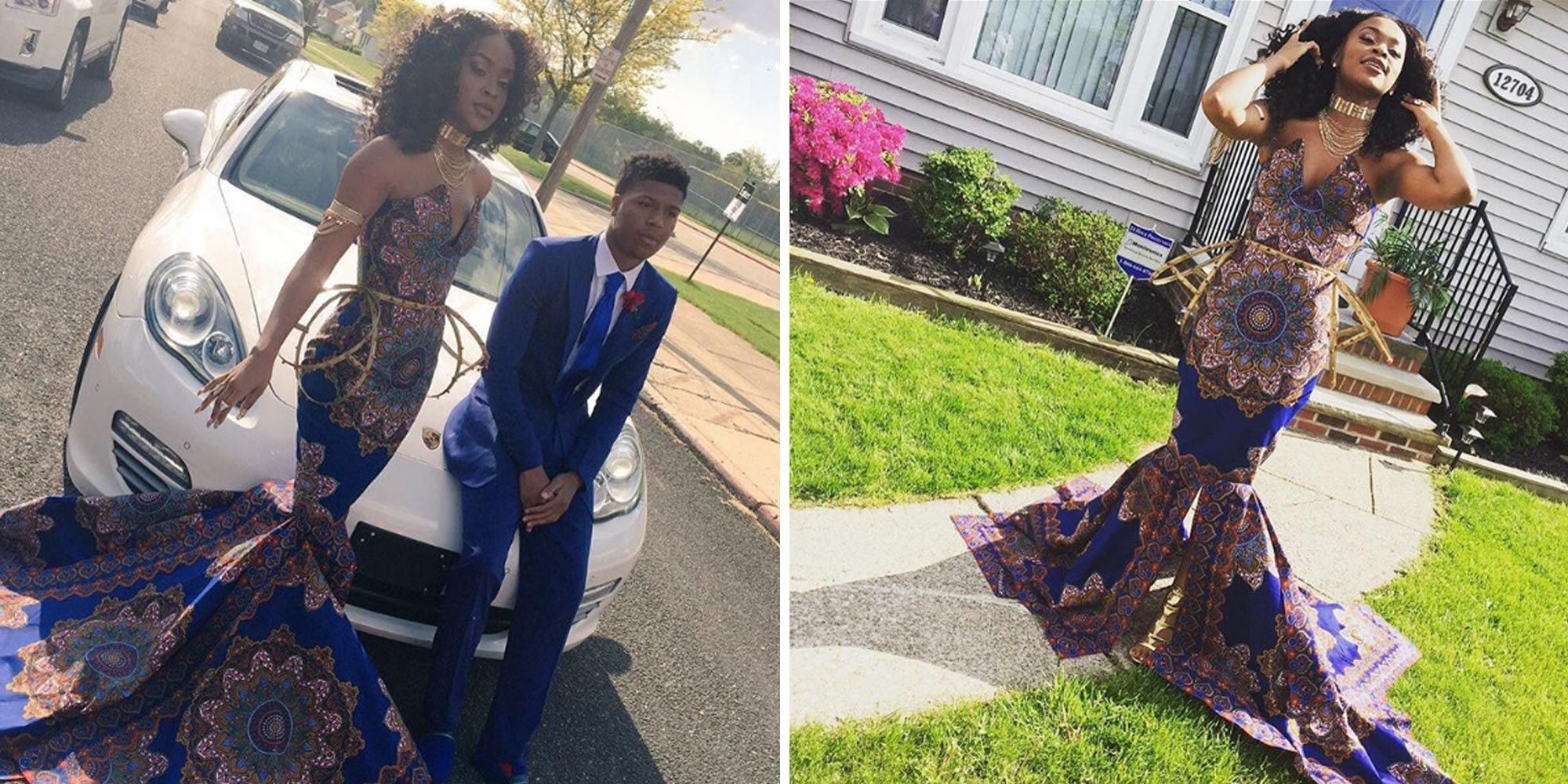 09fdb7b60d This 18-Year-Old Shut Down Her Teacher by Wearing This Gorgeous African  Print Prom Dress