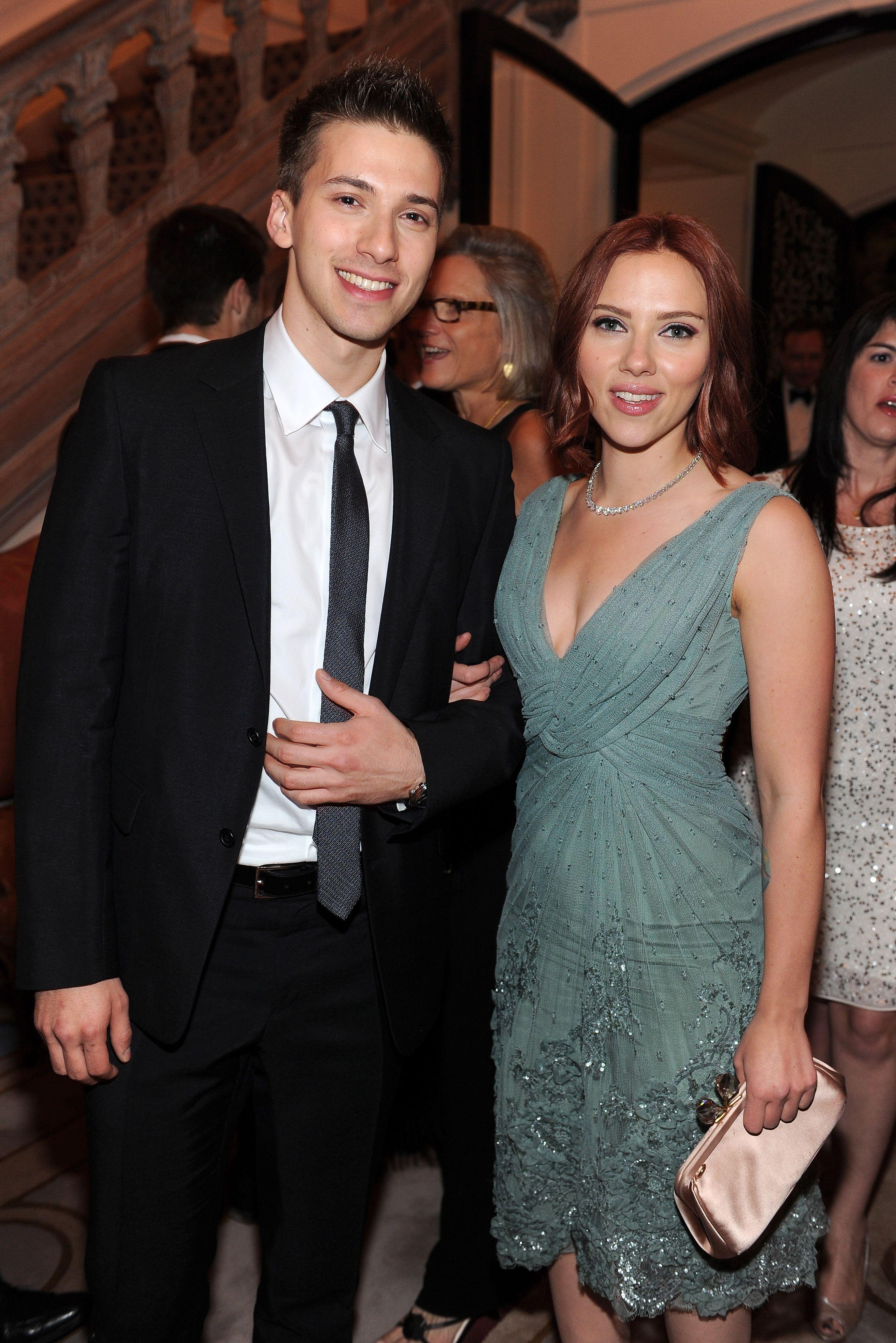 Hunter and Scarlett Johansson