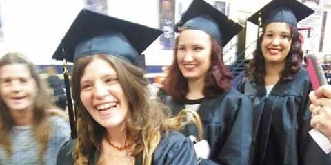 Face, Smile, Fun, People, Scholar, Academic dress, Event, Hairstyle, Skin, Social group,