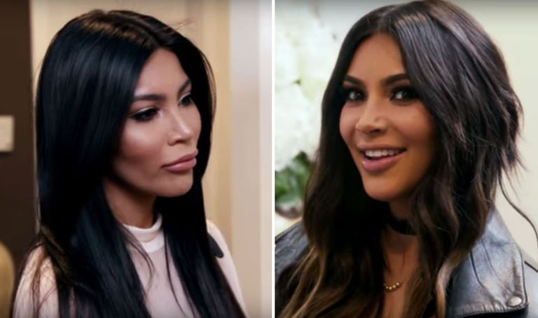 Kim Kardashian Just Met 1 of Her Lookalikes and It Was Awkward AF