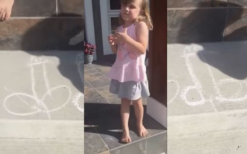 This Little Girl Drew a Family of Dicks on Her Front Step